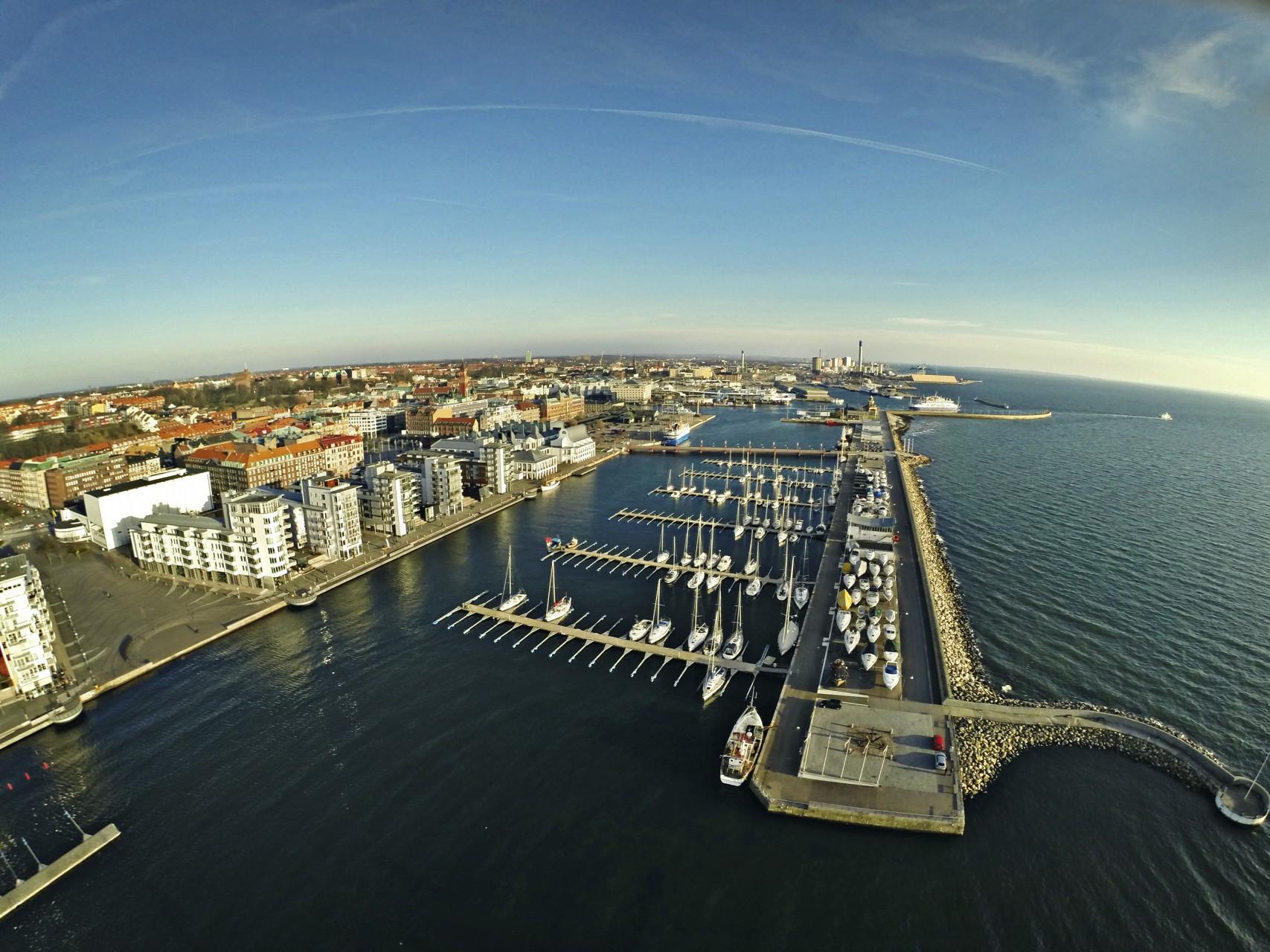 Norra hamnen drone 3000