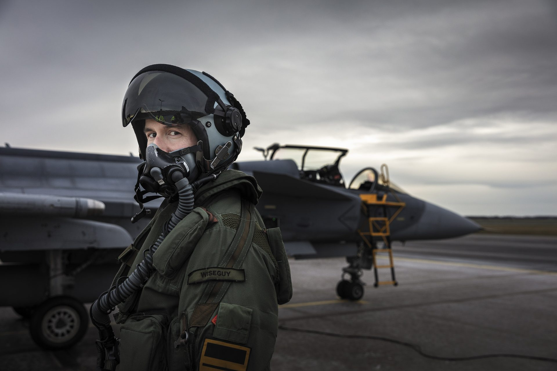 Carl Wiseman Bergqvist, stridspilot F7 Såtenäs